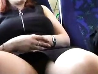 Horny wife flashing relating to train