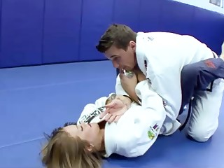 Ultra-Kinky Karate college girls smashes less say no to trainer after a superb karate opportunity