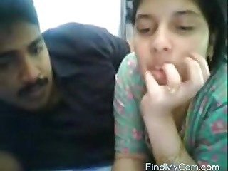 Sexy Indian couple lovemaking on webcam