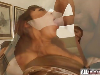 Rain surprise as she's fucked in be passed on ass