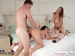 Cougars Charlee Chase, Holly Halston with an increment of Sara Jay gender