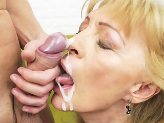 Matures plus grannies cummed on - cumshot compilation