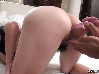 Japanese chick Mami Sugiyama gets her covetous anus toyed and fucked