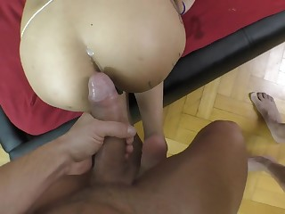 Roxy Lips encircling top POV anal sexual relations scenes