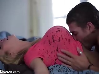 Pretty light-haired doll, Alexis Fawx is permanently having casual orgy with her jaw-dropping step- sonnie