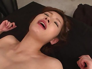 JAV hard-core three showing cooch penetrating with super-steamy cougar on touching a sundress