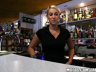 Bring on Pickups - HOT Czech bartender paid for quick fuck