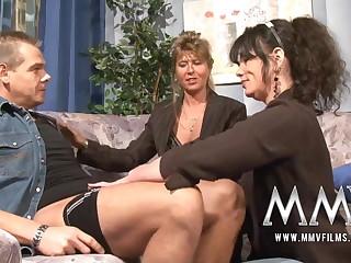 MMV Films Mature teacher having pastime apropos a couple