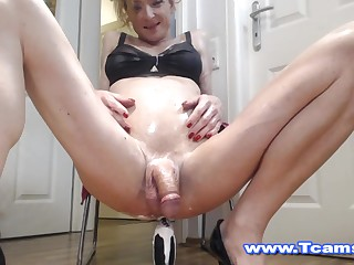 Steamy Tranny more than Wet and Raunchy Keester Toying