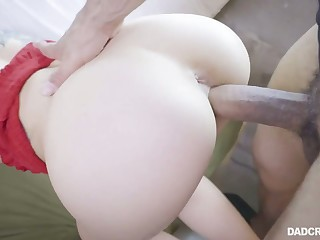 Hot and beloved sleeping beauty Kali Roses wanna realize her shorn pussy stretched