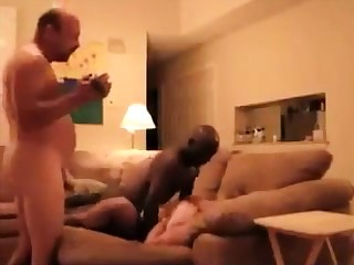 White wife with black panhandler Homemade Interracial Cuckold