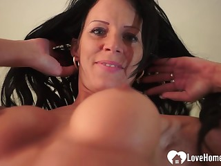Teasing mother I´d like to fuck plays with her wet coochie
