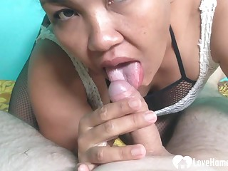 Asian ma gets a nice creampie in POINT-OF-VIEW