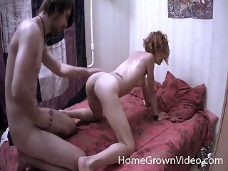 He rams it deep in her irritant then fills her butt with his hot jizz