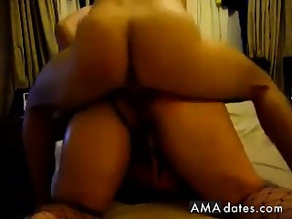 Homemade BBW anal play and fuck