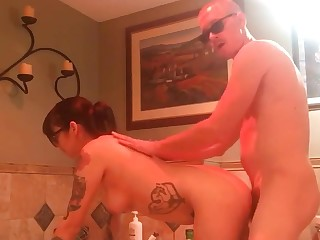 4 eyed sexy neonate college getting fucked