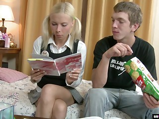 Russian teen Ekaterina allows to sink anal hole after a rimjob session