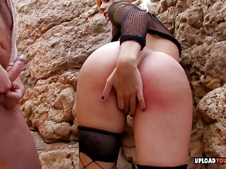 Kinky Blond In Fishnets Gets A Big Dick