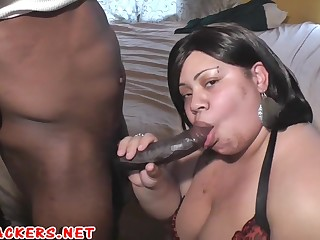 busty bbw coloured with big naturals besmeared big perfidious cock - homemade porn with cumshot