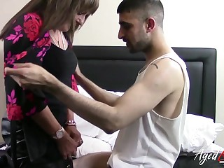 Sex-starved German widow Pandora is fucked away from young Turkish man