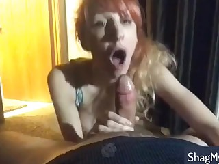 Provoking Dilettante MILF delievers great oral sex and swallows
