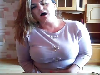 Bosomy Mommy Plays With Vibrator Almost Hot Cam Dissimulation
