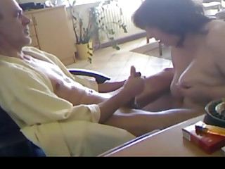 German milf gives her man a awesome cock sucking