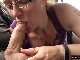 Redhead mature enjoys greedy cock sucking