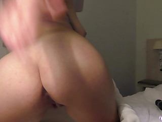 Babe Plays with Pussy after Shower - Hot Solo