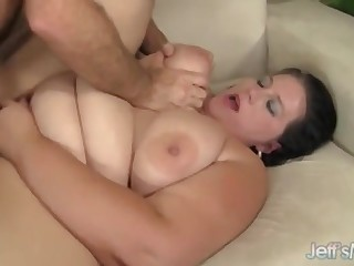 Curvy Fattie Becki Butterfly Rides Longing Cock