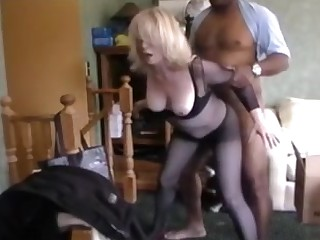 Blonde mature tie the knot get fucked by bbc and hubby keep in view