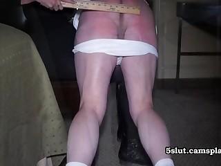 Fat butt Chastising