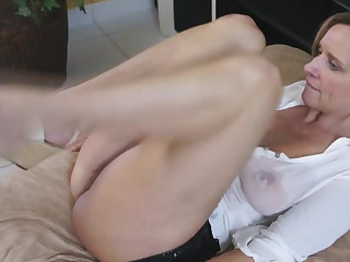 Spanish MILF in messy t-shirt fucks unmitigatedly hot