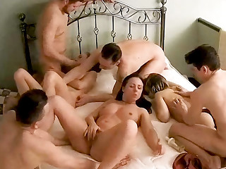 Massive Amateur Teenage Orgy, Swinger Statute upstairs Hidden Cam