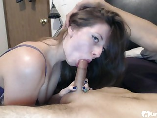 Naughty babe loves getting my unchanging dig up in her mouth and love when I bust a load in her mouth
