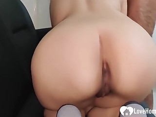 Delicious girlfriend be proper of my fiance getting hardcore ass fucked