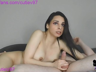 Big tits brunette webcam blowjob
