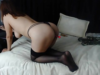 Hot amateurish webcam solo masturbation