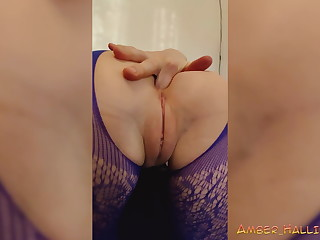 Sexy Latitudinarian in Bodystockings Play Pussy increased by Anal Sex Toy