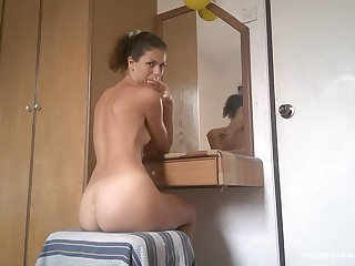 Ardent lovemaking at home with a hot ass crude girlfriend